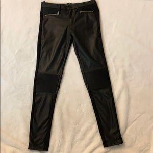 Zara Trafaluc Moto vegan leather like skinny pants